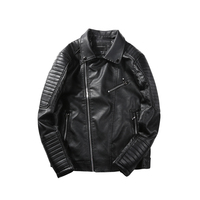 Autumn And Winter Leather Motorcycle Clothing Male Pilot Jacket Handsome Turn Down Collar Leather Clothing Male