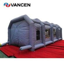 Серый надувная аэрозольная камера индивидуальные портативный автомобильный стиральная палатка Бесплатная 2 шт. воздуходувки надувная покрасочная палатка