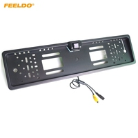 FEELDO Auto European License Plate Mount Rear View Camera with Guide Lines for Backup #AM4790