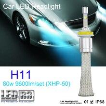 1 set 9600lm 80w CR-EE R3 LED headlight 40w 4800lm H1 H3 H4 H7 H8 H9 H11 H13 9004 9005 9006 9007 9012 car LED headlight bulb