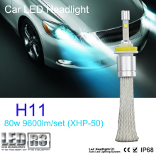1 set 9600lm 80w CR EE R3 LED headlight 40w 4800lm H1 H3 H4 H7 H8