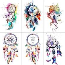 TCOOL Dreamcatcher Temporary Fake Tattoo Body Art Sticker Waterproof Women Fashion Hand Tattoo Sticker for Kids 9.8X6cm T-006