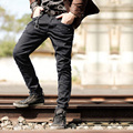 Black skinny jeans men 2016 New fashion ripped jeans men slim fit pants famous brand jogger casual stretch jeans pants for men