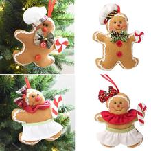 2018 hangings christmas ornaments gingerbread man pendant tree xmas gift christmas decorations for home party kids