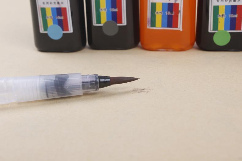 torneira da cor, caneta criativa da caligrafia,