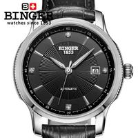 Switzerland BINGER watches men luxury brand Automatic self wind movement mechanical Wristwatches full stainless steel BG 0405 6