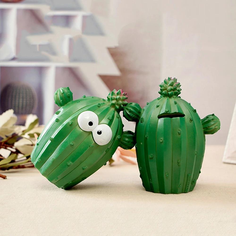 Lucu Kartun Koin Celengan Kaktus Uang Kotak Ekspresi Wajah Menyenangkan Yang Unik Kaktus Tanaman Resin Dekorasi Rumah Hadiah Natal Uang Kotak Aliexpress