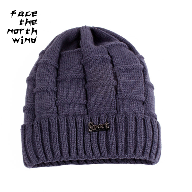 Men's fashion cap Jacquard thickened wool cap Knitted cap Warm winter hat Male hat knitted skullies cap the new winter all match thickened wool hat knitted cap children cap mz081