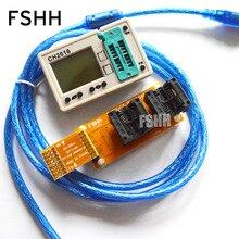 1.8V low voltage dedicated! CH2016 Programmer +208mil SOP8 Adapter for 1.8v chip 25U64535F