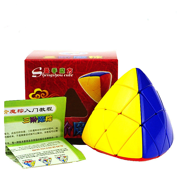 3*3 Colorful Puzzle Magic Cube Pyramid Rice Dumpling Magic Speed Cube Educational Learni ...
