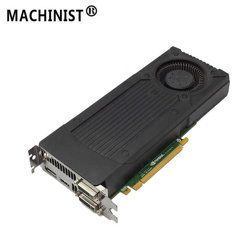 Machinist Videokaart Gtx 760 1.5 Gb 192Bit GDDR5 Video Kaarten Voor Nvidia Vga Kaarten Geforce Game Sterker dan Gtx 750 Ti