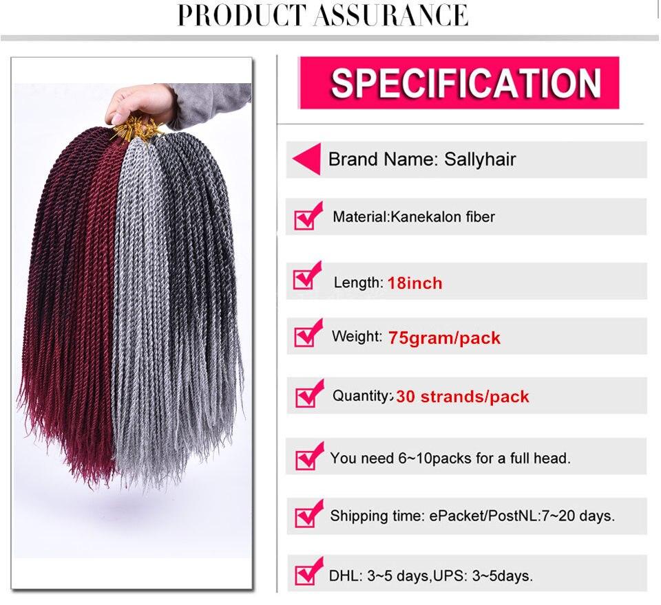 5 пакетов/Лот 18 sallyhair Малый Сенегальский крючком Твист косы волосы вязанная косами 30strands/Упаковка Bug цвета ombre плетение волос