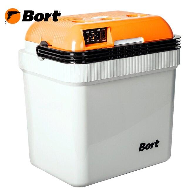 Холодильник автомобильный Bort BFK-12/230 (сумка-холодильник, объем 24 л., понижение температуры до 15'С, нагрев до 50'С, работает от прикуривателя 12 В и от сети 220 В)