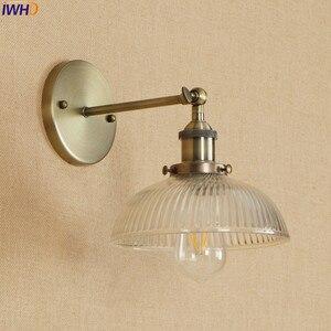 Image 3 - アンティーク真鍮の壁照明器具ガラス産業の横にスイングアームヴィンテージ壁灯燭台ランプ lamparas デ · パレー