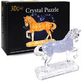 3d stereo plastic assembling puzzle educational toys crystal horse