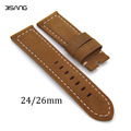 24mm/26mm Dark Brown Handmade Leather Watchband, retro type watchband, suitable for PAM watches and rough Watch,Free Shipng