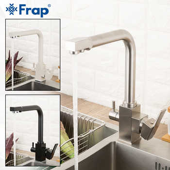Frap Filter Kitchen Faucet Drinking Water Single Hole Black Hot and cold Pure Water Sinks Deck Mounted Mixer Tap Y40103/-1/-2 - DISCOUNT ITEM  52% OFF All Category