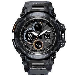 Image 2 - メンズ腕時計 2018 SMAEL トップブランドの高級時計男性グラムスタイル軍事軍 S ショックスポーツ腕時計 LED アナログデジタル時計 Saat