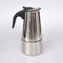 6 tazas de acero inoxidable Moka/oficina en casa cafetera/moka cafetera/filtro/filtro de cafetera B1-600