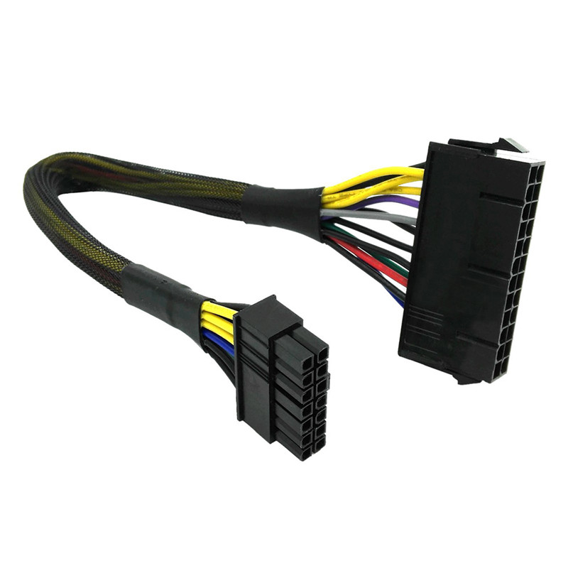 Centechia 24 Pin to 14 pin Power Supply ATX Cable Profession Motherboard Connector Cable High Quality power supply cable cord 18awg wire atx 24 pin to 14 pin adapter cable for lenovo ibm dell q77 b75 a75 q75 motherboard f20812