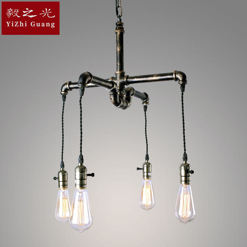 wrought iron pipes, droplight do old living room lamp restaurant lighting lighting lamps and lanterns customization бра alfa parma 16940