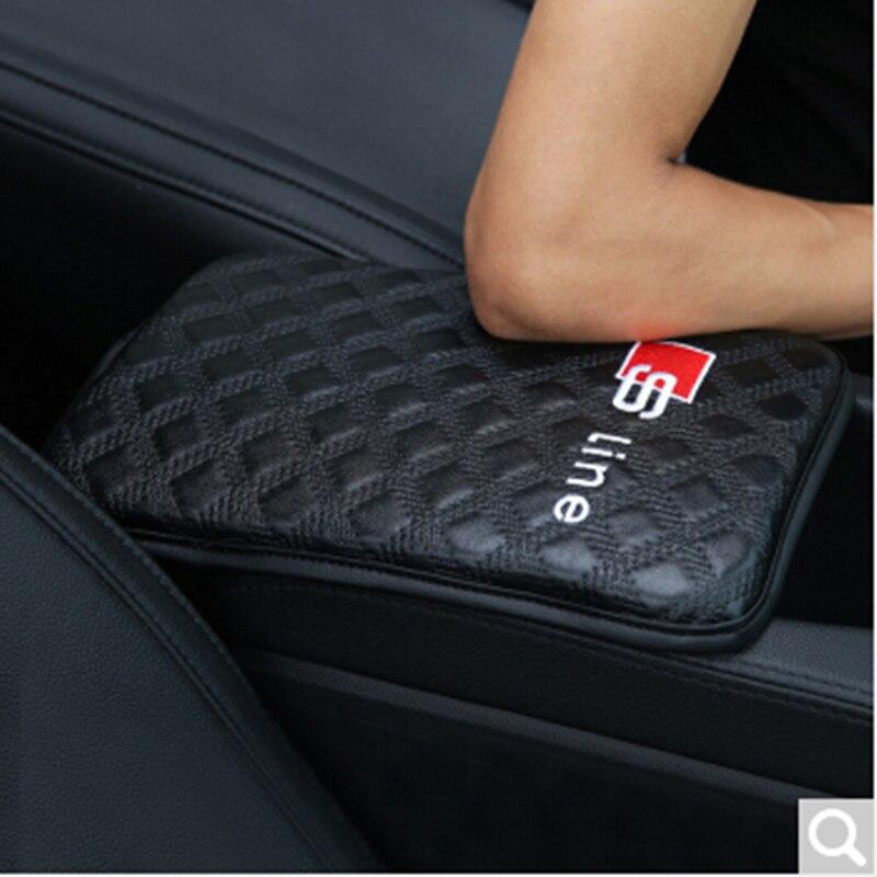 цены 1PCS Car Armrests Pad Covers Logo For Audi A3 A4 B6 B8 A6 C6 80 B5 B7 A5 A7 Q5 Q7 TT 8P 100 8L C7 8V A1 S3 Q3 A8 B9 V8 C5 S4 S5