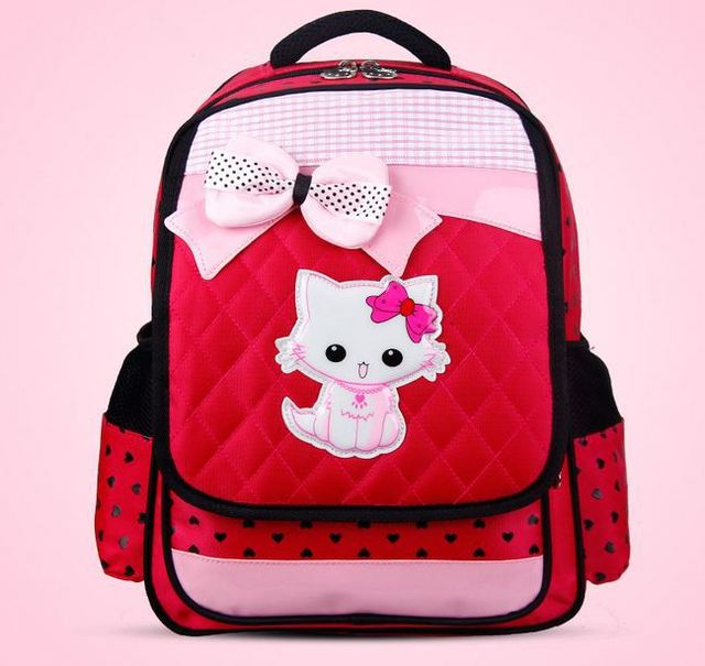 NEW High Quality Children School bags  primary school bag  kids girl Students backpack minions waterproof  bag free shipment
