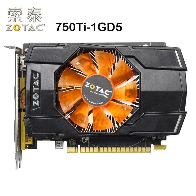 Ban đầu ZOTAC Video Thẻ GTX750Ti-1GD5 128Bit GDDR5 1GD5 Card Đồ Họa cho nVIDIA Bản Đồ GeForce GTX750 Ti 1 GB Hdmi Dvi VGA Sử Dụng