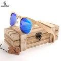 BOBOBIRD G026-2 Semi Gabinete Design Unisex Óculos De Sol Com Lente Bule Artesanal Bmaboo Óculos oculos de sol masculino Com Caixa