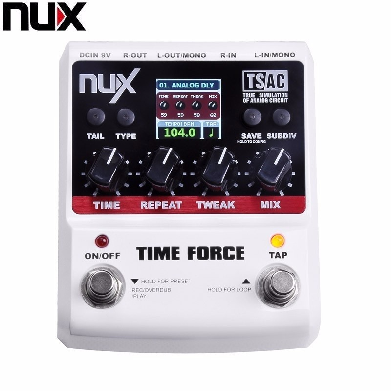 NUX TIME FORCE Guitar effect Pedal delay Multi Digital 11 Delay Effects pedal de guitarra Capo Electric Guitar Accessories nux loop core violao guitar effect pedal durable guitarra effect pedal 6hours recording time guitar accessories