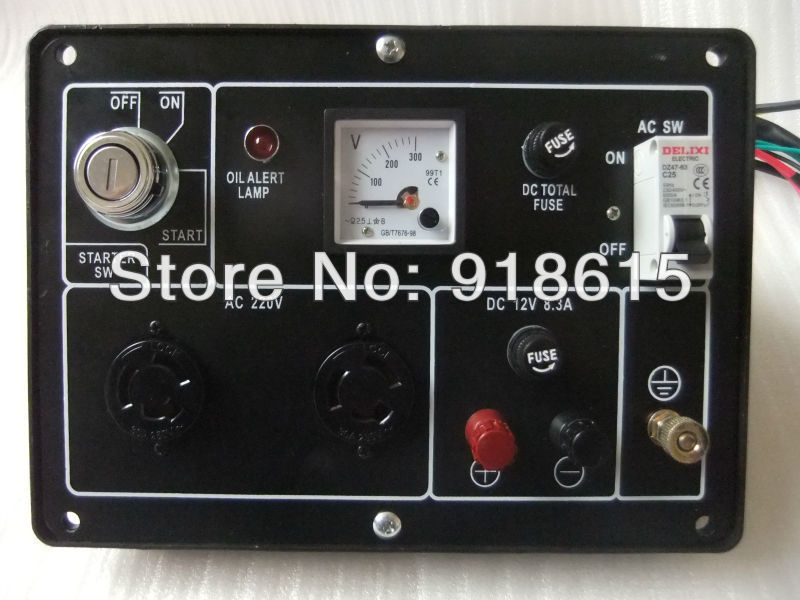 KAMA type KM186FA KM186F 5KW single phase diesel generator parts,Control Panel Assy, accessories. цена