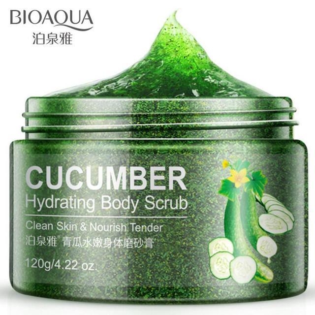 BIOAQUA Natural Organic Body Scrub Exfoliator Exfoliating Cream Moisturizing Whitening Peeling Bath Cream 120g 3