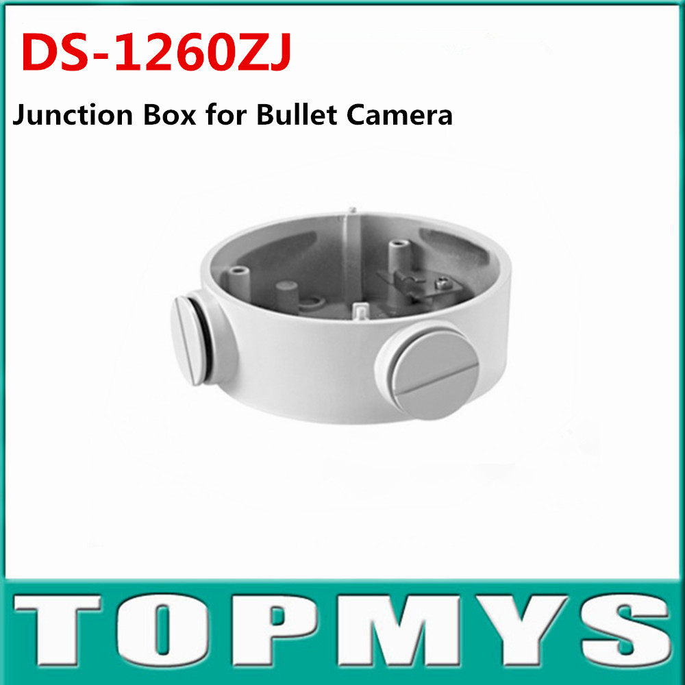 White Junction Box DS-1260ZJ use for HIK IP Camera DS-2CD2635F-IS Aluminum alloy material with surface spray treatment ds 1602zj box pole ptz camera vertical pole mount bracket with junction box
