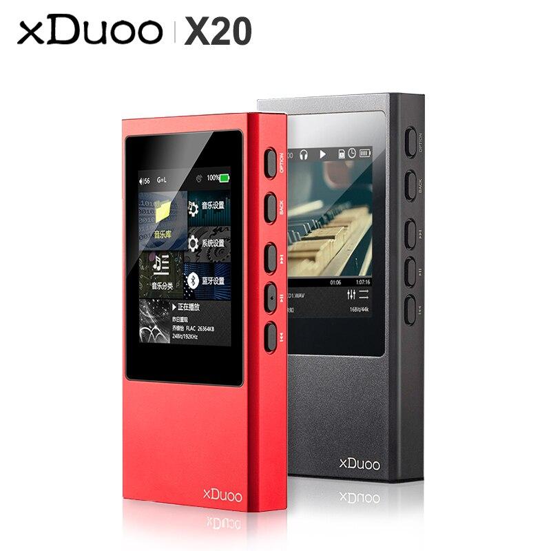XDuoo X20 Bluetooth HiFi Portable Lossless Music Player Mp3 Native DSD256 PCM384kHz/32bit OPA1612 DAC ESS9018 Balanced Output