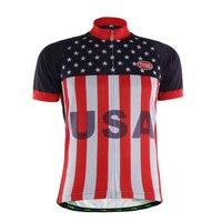 TVSSS Hommes de Vélo Jersey D'été À Manches Courtes USA Drapeau Vêtements Vélo Jersey Vélo Clothing