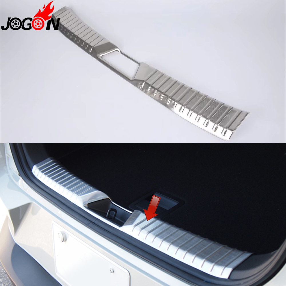 For <font><b>Mazda</b></font> CX-3 <font><b>CX3</b></font> <font><b>2016</b></font> 2017 2018 Car Styling Interior Trunk Rear Bumper Protector Scuff Sill Plate Cover Trim Stainless Steel image