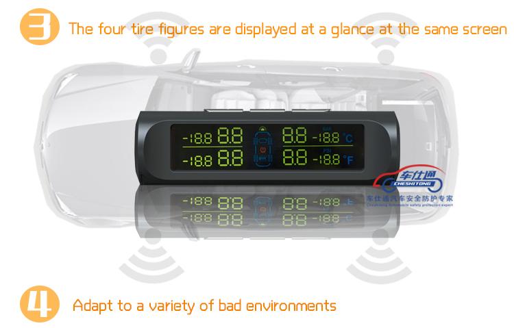 carro Nadler Sistema TPMS 5