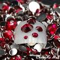 2016 Nova Moda 5000 pcs Tamanhos Mistos Rosa Cor 3D Ferramentas Da Arte do Prego Acrílico Pedrinhas Dicas Pregos Pérolas Glitter Rhinestone DIY