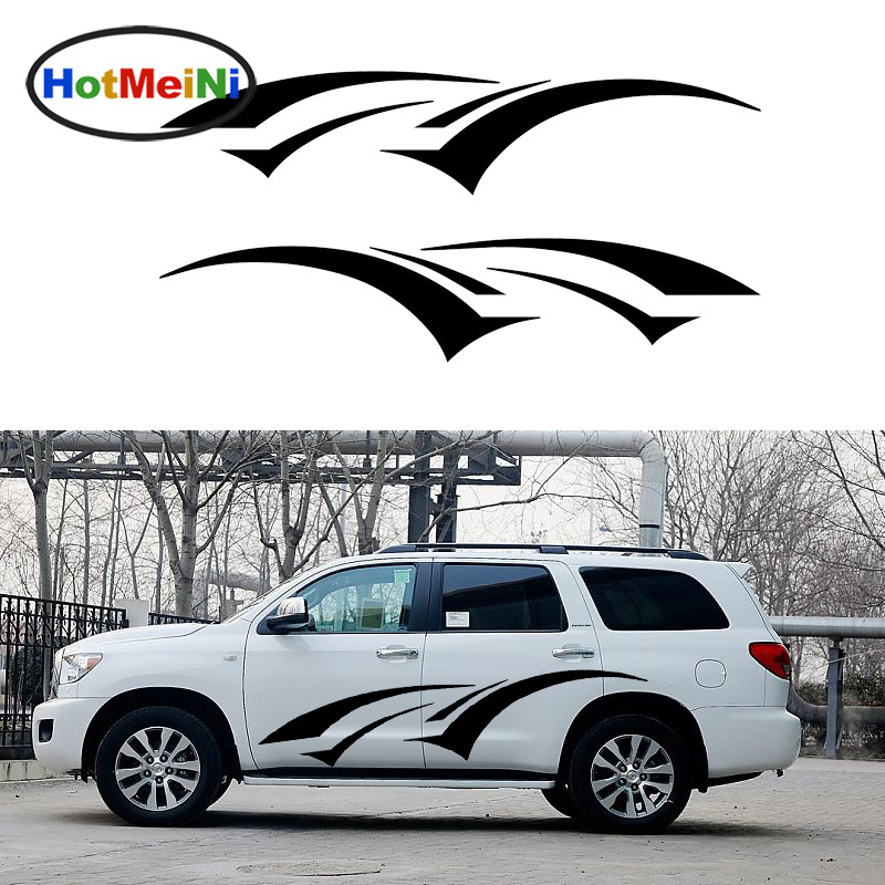 HotMeiNi 2 X Cheerful Jumping Romantic Streak Dynamic Car Stickers for SUV Trailer Truck Door Side Kayak Vinyl Decal 10 Colors horse riding sticker for car rear windshield truck suv bumper auto door laptop kayak canoe art wall die cut vinyl decal 8 colors