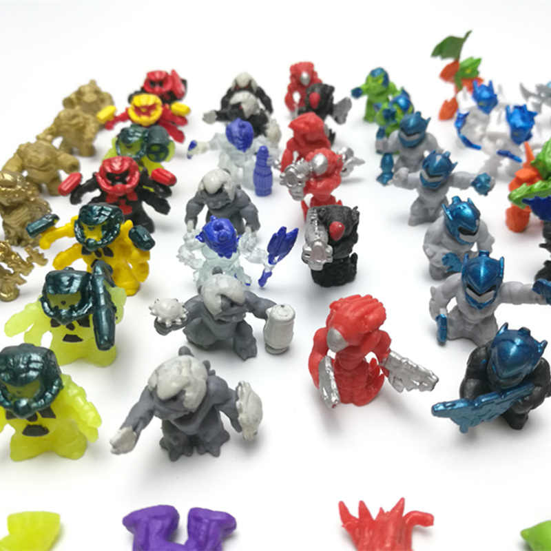 100Pcs Atomicron Interstellar monsters Armed robot Star Wars Micro landscape ornamental Movable human alien doll toys