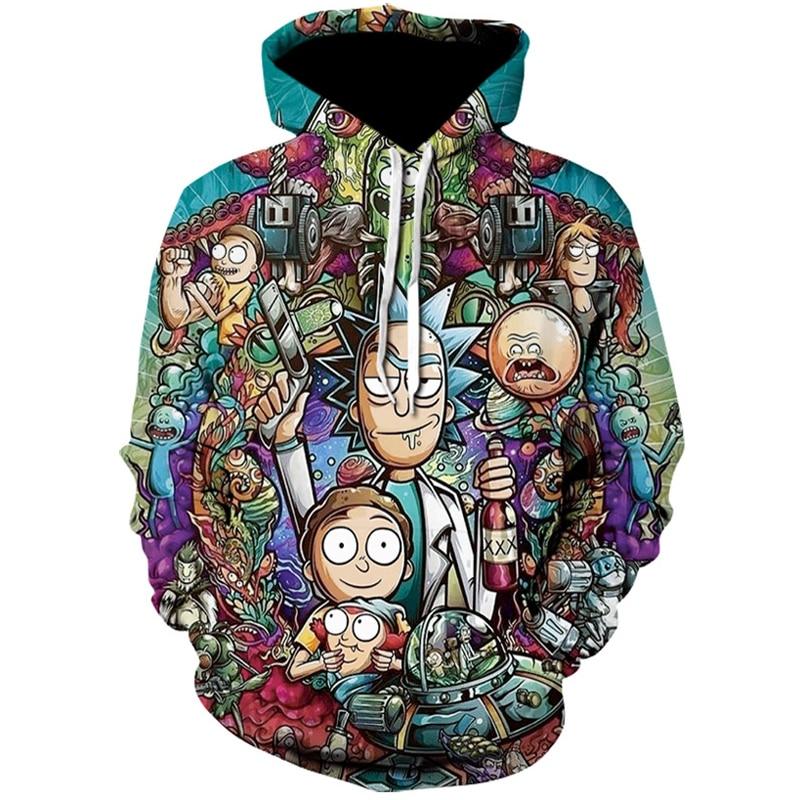 2019 Newest Rick and morty Cartoon 3D Hoodie Sweatshirt Men Women Funny Hoodie Casual Tracksuits Fashion Baseball Costume Coats