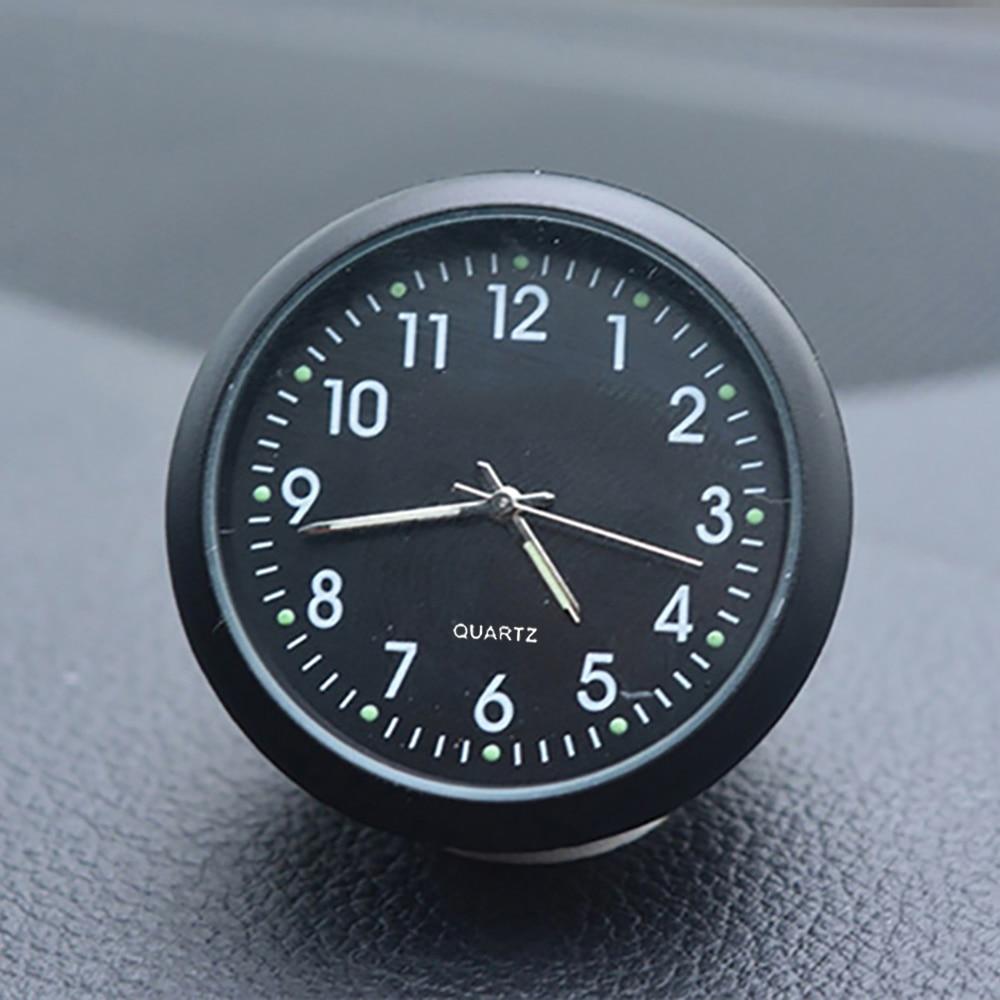 Car Clock Automobiles Thermometer Auto Internal Digital Watch Luminova Mechanics Quartz Clock Ornaments Car Styling Accessories