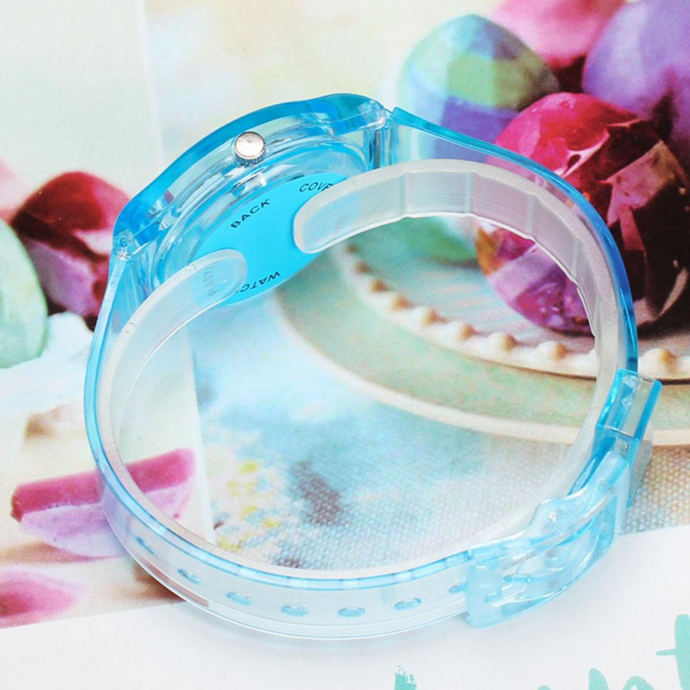 2019 New Lovers Men Women Watches Fashion Transparent Candy Color Plastic Band Casual Quartz Watches Female