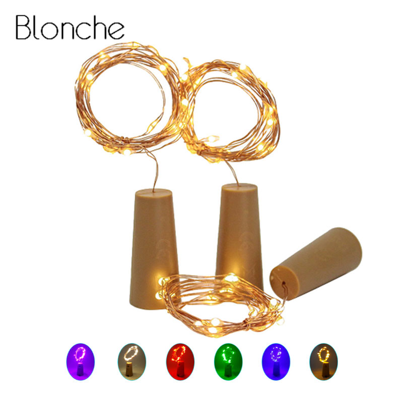 1M 2M LED Lamp String Light Glass Wine Bottle Stopper Fairy Light Cork Shaped Decoration For Bar Christmas Holiday Party 7 Color
