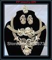 Banhado a ouro Conjuntos de Jóias de Casamento Conjuntos de Jóias de Moda