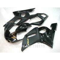 ABS fairing kit fit for YAMAHA R6 1998 1999 2000 2001 2002 R6 all black YZF R6 fairings set 98 99 00 01 02 #3205