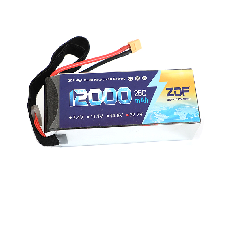 ZDF High Quality Lipo Battery 22.2V 6S 12000MAH 25C-50C RC AKKU Bateria for Airplane Helicopter Boat FPV Drone UAV zdf lipo battery 22 2v 26000mah 6s 25c lipo battery as150 plug batteries for quadcopter uav rc helicopter drone