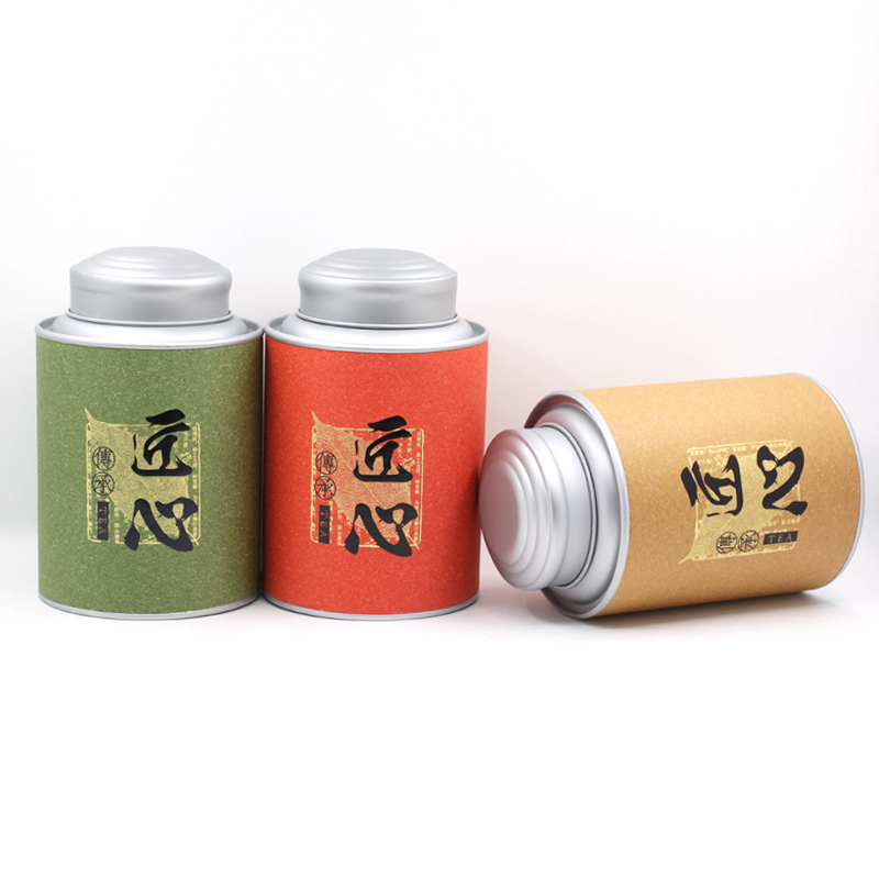 Round Tea Paper Tube Packaging Box For Lip Balm Poy Fancy Paper Material Surface Famous Brand Food Grade Double Lid Corn Cans