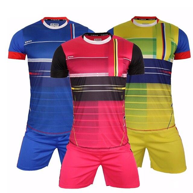 EQUIPO PROFESIONAL personalizado conjunto completo uniforme de fútbol  entrenamiento Fútbol 2016 2017 Kit conjunto completo camiseta b1bd994a3742e