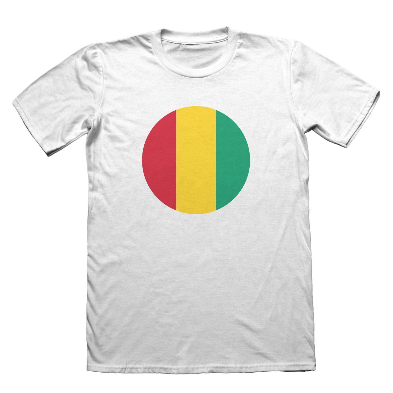 Guinea Flag T-Shirt - Mens Fathers Day Christmas Short Sleeve Round Neck T Shirt Promotion Summer 2018 100% Cotton